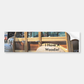 IMG_7869, I Have A Woodie! Bumper Sticker