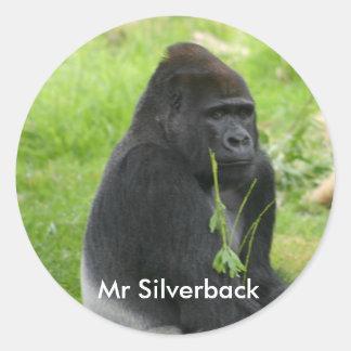 IMG_8810, Sr. Silverback Pegatina Redonda