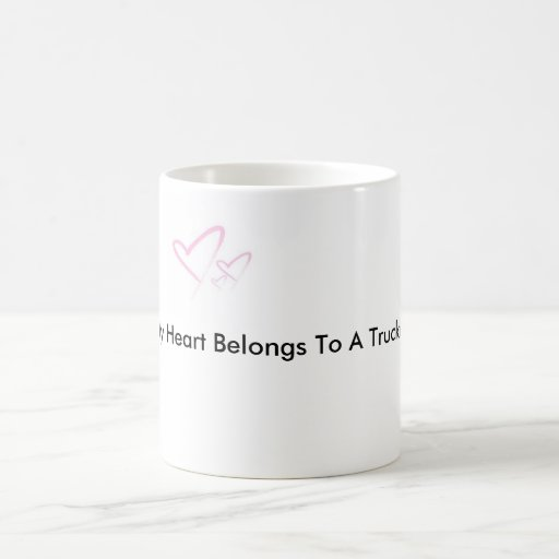 img-thing, My Heart Belongs To A Trucker Classic White Coffee Mug