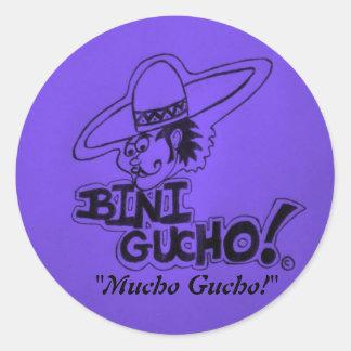"¡IMGP0475-1, ""Mucho Gucho! "" Pegatinas Redondas"