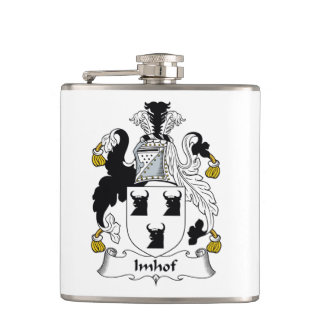 Imhof Family Crest Hip Flask