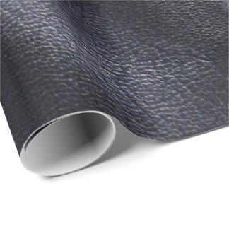 Imitación de cuero brillante negra papel de regalo