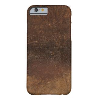 Imitación de cuero calificada del zurriago funda de iPhone 6 barely there