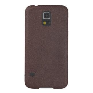 Imitación de cuero de Brown oscuro Carcasas De Galaxy S5