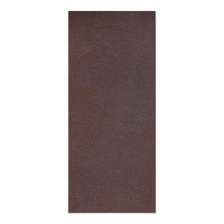 """Imitación de cuero de Brown oscuro Invitación 4"""" X 9.25"""""""