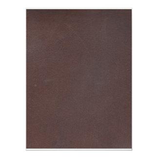 """Imitación de cuero de Brown oscuro Invitación 6.5"""" X 8.75"""""""