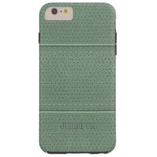 Imitación de cuero de la verde salvia del vintage funda de iPhone 6 plus tough
