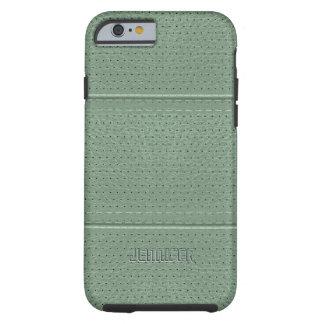 Imitación de cuero de la verde salvia del vintage funda de iPhone 6 tough