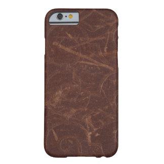 Imitación de cuero de lujo del remolino de Brown Funda De iPhone 6 Barely There