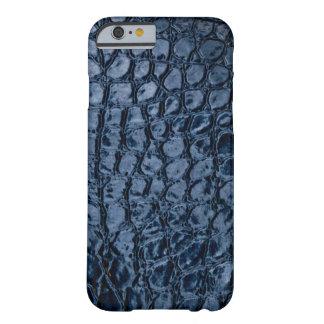 Imitación de cuero del azul del cocodrilo funda barely there iPhone 6
