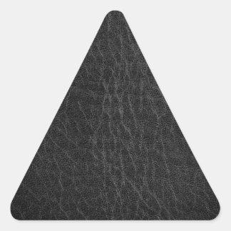 Imitación de cuero del vintage pegatina triangular