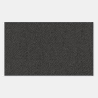 Imitación de cuero del vintage pegatina rectangular