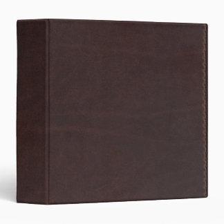 """Imitación de cuero oscura de Brown de la castaña Carpeta 1 1/2"""""""