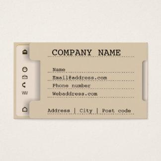 Imitación de la bandeja de documento tarjeta de negocios