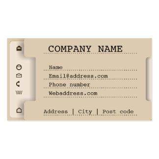 Imitación de la bandeja de documento tarjetas de visita