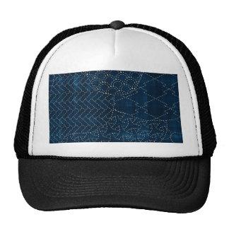 imitación del bordado del Sashiko-estilo Gorra