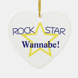 Imitador de la estrella del rock adorno de cerámica en forma de corazón