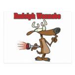 imitador divertido del reno postal