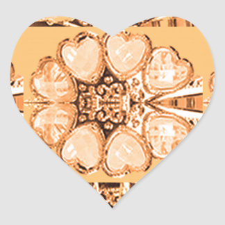 Imitation Jewel Pattern Deco Gifts FUN everyday 99 Heart Sticker