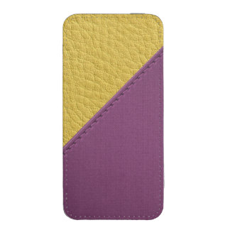 Imitation of mulberry yellow leather, seams, iPhone 5 pouch
