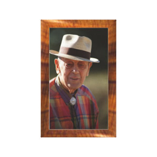 Imitation wood border for 8x10 photo gallery wrap canvas