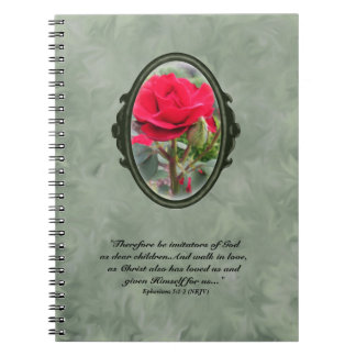 Imitators of Christ Red Rose Notebook