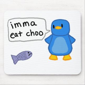 Imma come el pingüino de Choo Alfombrillas De Ratón