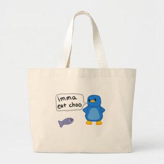 Imma come el pingüino de Choo Bolsa Tela Grande