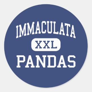 Immaculata - Pandas - High - Marrero Louisiana Classic Round Sticker