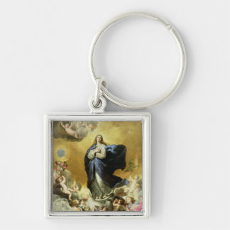 Immaculate Conception, 1635 Silver-Colored Square Keychain