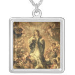 Immaculate Conception, 1670-1672 Square Pendant Necklace
