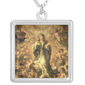 Immaculate Conception, 1670-1672 Silver Plated Necklace