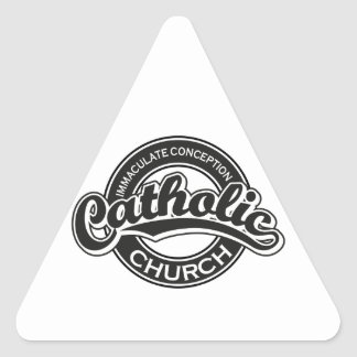 Immaculate Conception Catholic Church Black Triangle Stickers