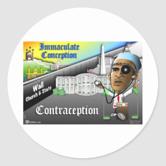 Immaculate Conception Classic Round Sticker
