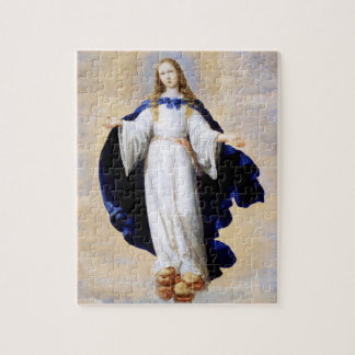Immaculate Conception Cloud and Cherub - Zurbaran Jigsaw Puzzle