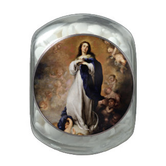 Immaculate Conception Glass Jars