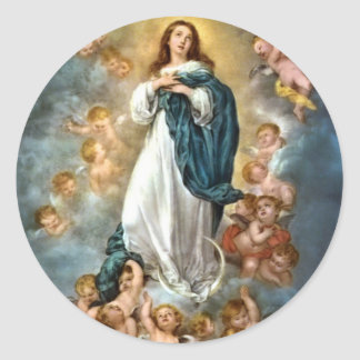 Immaculate Conception of Mary Classic Round Sticker