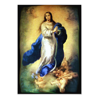 """Immaculate Conception of Virgin Mary - Murillo 5"""" X 7"""" Invitation Card"""