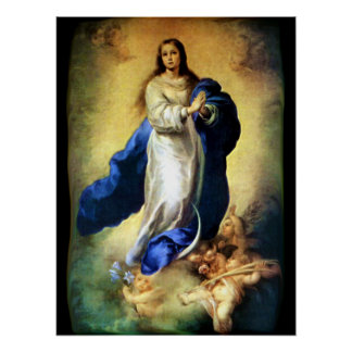 Immaculate Conception of Virgin Mary - Murillo Poster