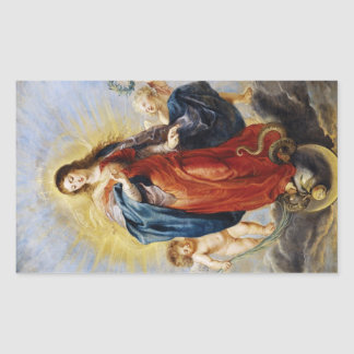 Immaculate Conception Peter Paul Rubens painting Rectangular Sticker