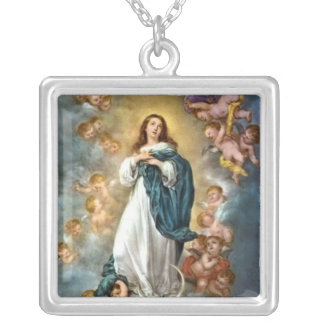 Immaculate Conception Square Pendant Necklace