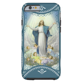 Immaculate Conception Virgin Mary Angels Clouds Tough iPhone 6 Case