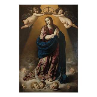 Immaculate Conception Virgin Mary Queen of Heaven Poster