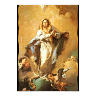 """Immaculate Conception with Cherubs - Tiepolo 5"""" X 7"""" Invitation Card"""