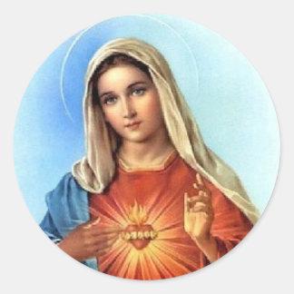 Immaculate Heart Classic Round Sticker