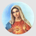 Immaculate Heart Mary Classic Round Sticker