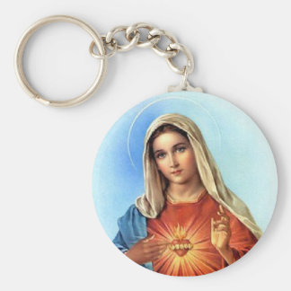 Immaculate Heart Mary Keychains