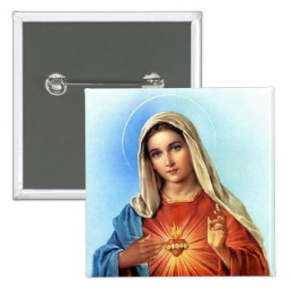 Immaculate Heart Mary Pinback Button