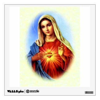 Immaculate Heart of Blessed Virgin Mary Wall Decal
