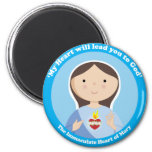 Immaculate Heart of Mary 2 Inch Round Magnet